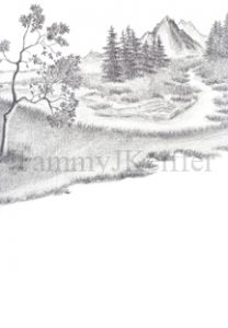 Mountain Landscape Sketch | Image 1
