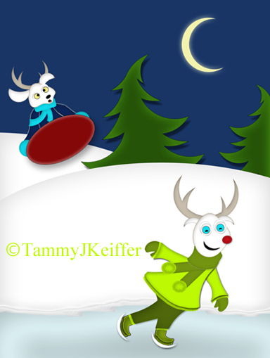Reindeer Christmas Characters